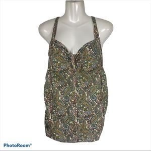 Oh Baby Motherhood Maternity Tankini Paisley-Large